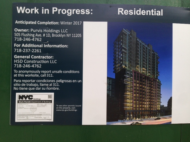 Rendering for the lot at 44-35 and 44-51 Purves Street