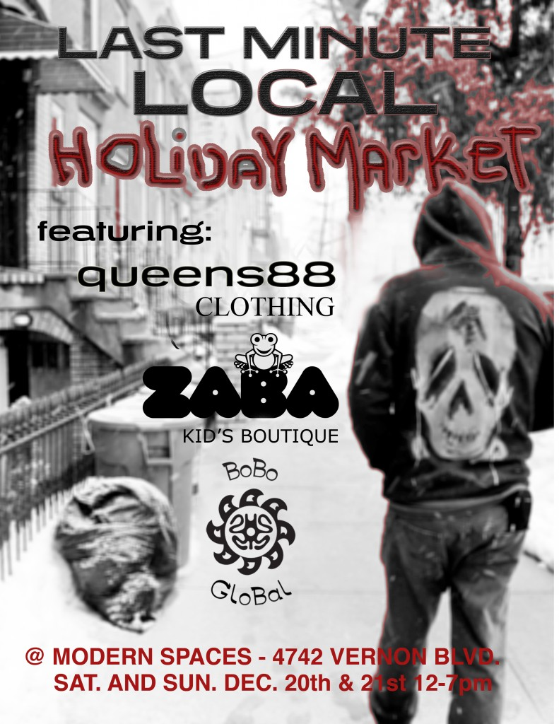 modern spaces holiday market flyer