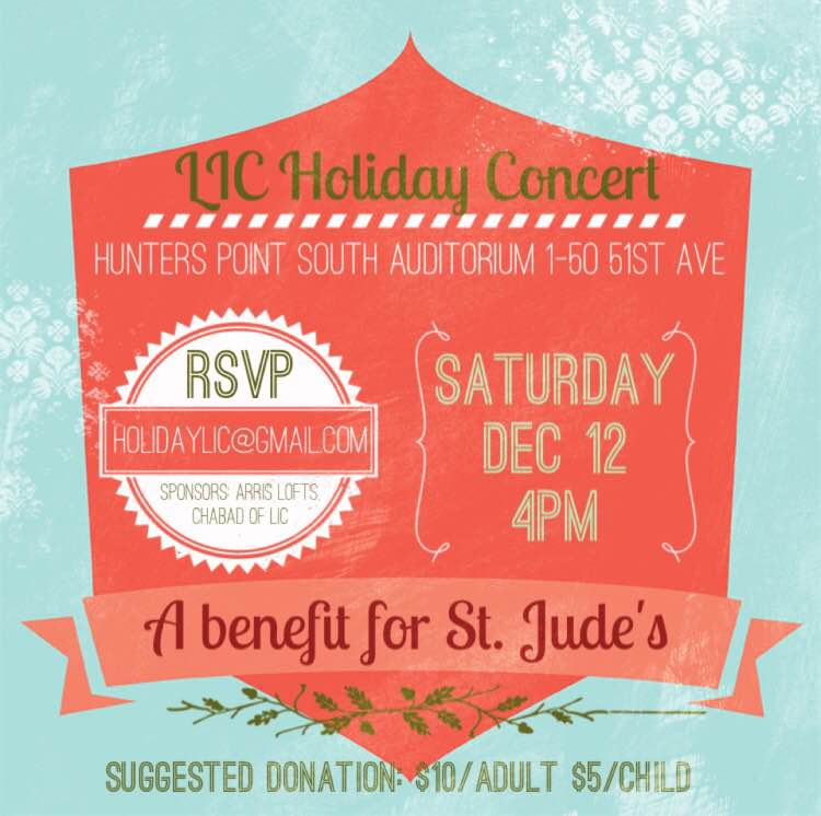 Annual LIC Holiday Concert to benefit St Jude's Children's Hospital