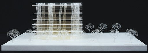 "Toyo Ito & Associates, Architects. Sendai Mediatheque, Miyagi, Japan. 1995–2001. Model: acrylic, 10 5/8 x 31 1/2 x 29 1/8"" (27 x 80 x 74 cm). The Museum of Modern Art, New York. Gift of the architect in honor of Philip Johnson. © 2015 Toyo Ito"" title=""Toyo Ito & Associates, Architects. Sendai Mediatheque, Miyagi, Japan. 1995–2001."