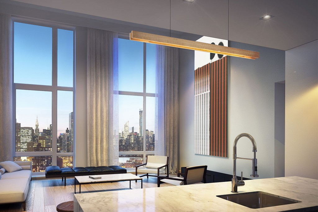 One of the renderings from inside an apartment (via Fogarty Finger)